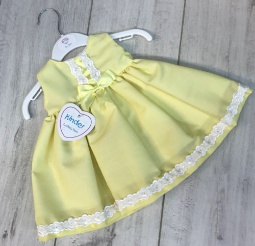 Lemon Dress with Swiss Lace
